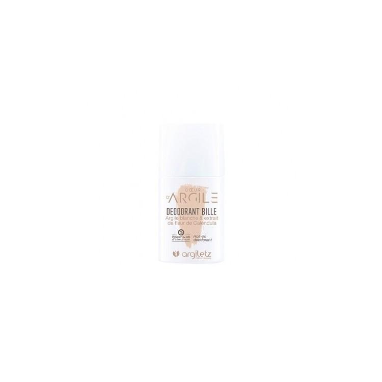 Deodorant roll-on cu argila alba si flori de galbenele Argiletz 50ml