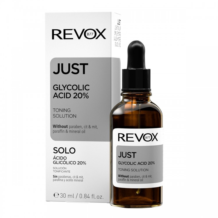 Solutie tonica JUST Glycolic Acid 20% Toning, Revox, 30ml